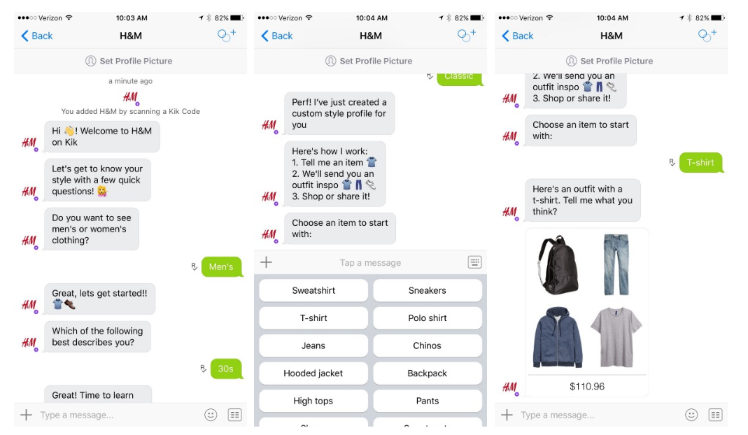 Examples of Conversational Commerce, Chatbots & Contextual