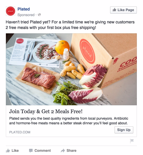 Example of incorporating a discount offer in a retargeting ad